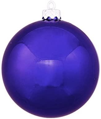Northlight Shatterproof Shiny Cobalt Blue UV Resistant Commercial Christmas Ball Ornament, 6