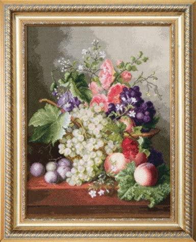 Embroidery Counted cross stitch kit Charivna mit #М-129 Still life with grapes 37x49 cm / 14.57x19.29 in