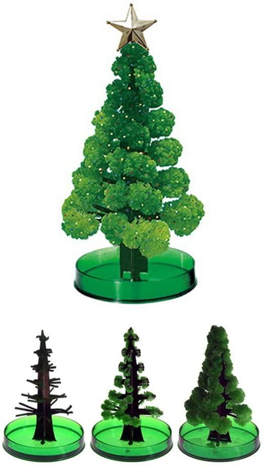 Flamedre DIY Christmas Tree 2 Set Magic Tree, Paper Tree Blossom Magic Growing Tree Toy Boys Girls Novelty Xmas 10ml, Mini Christmas Tree, Christmas Decorations (Christmas Tree)