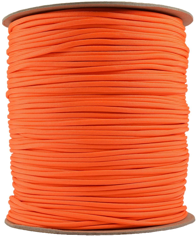 BoredParacord Brand Paracord (1000 ft. Spool) - Neon Orange