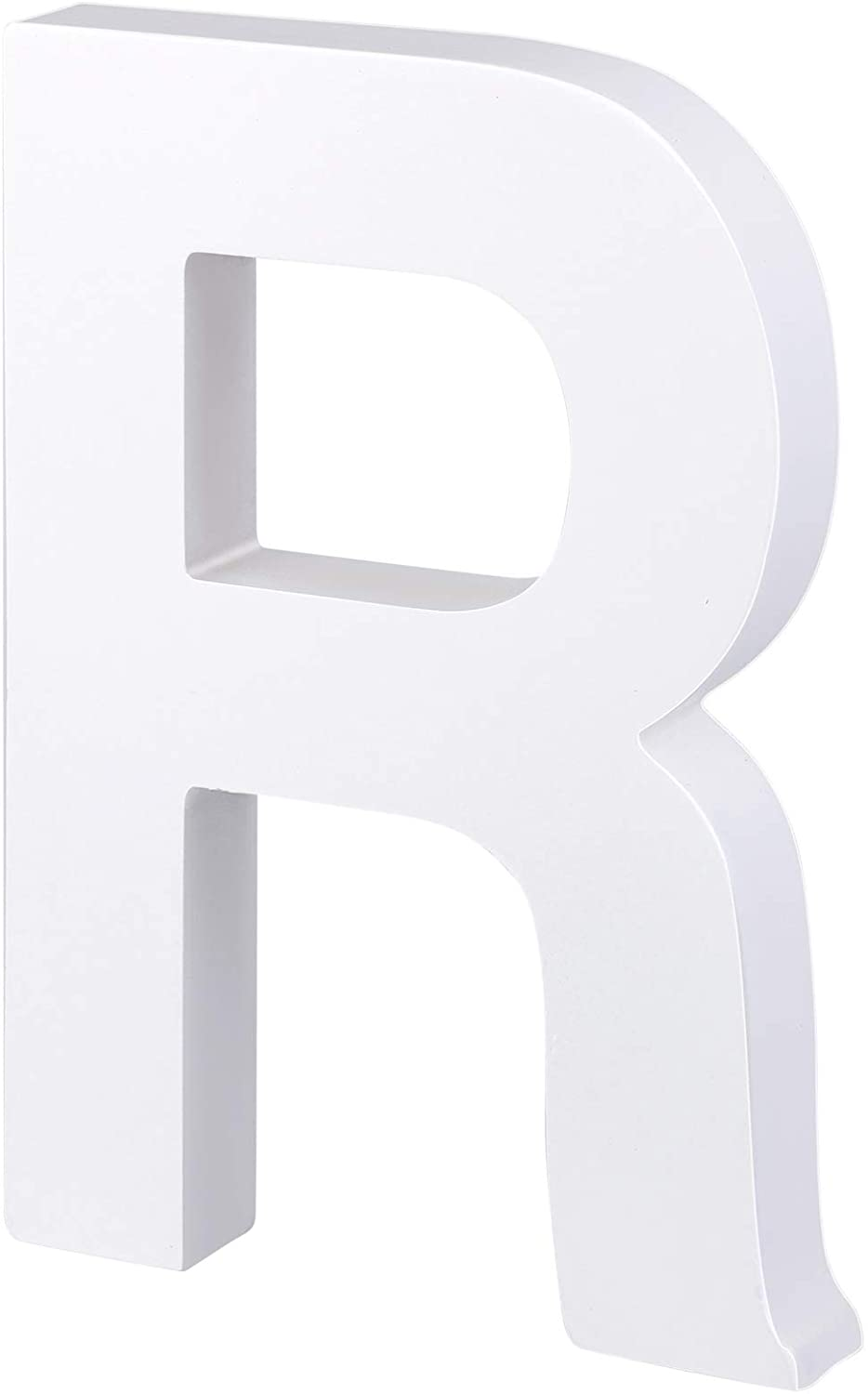 RUODON White Decorative Wood Letters Hanging Wall 26 Letters DIY Decoration for Home Bedroom Office Wedding Party, 7.9 x 0.8 Inch