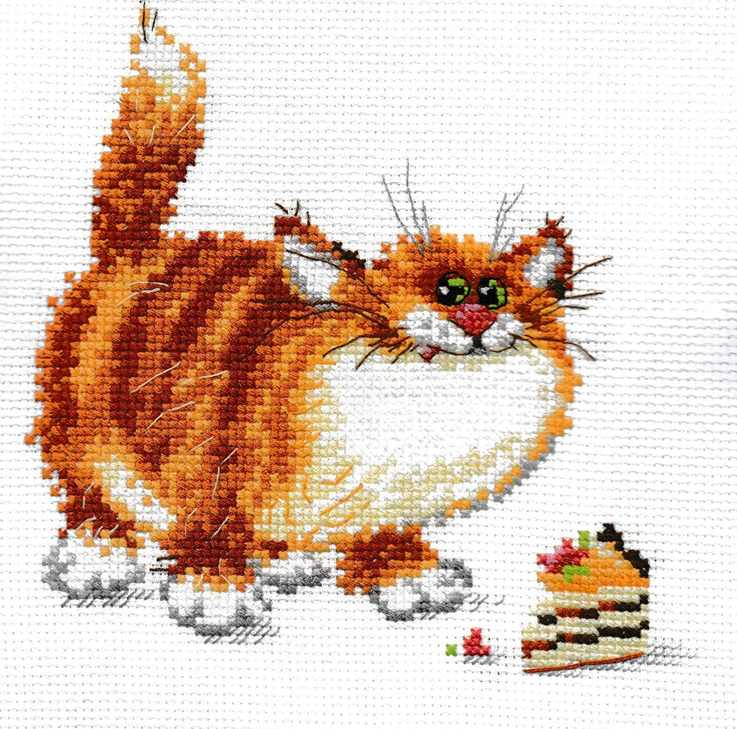 Unprinted Counted Funny Needlework Cross Stitch Kit (Delicious! 0-84)