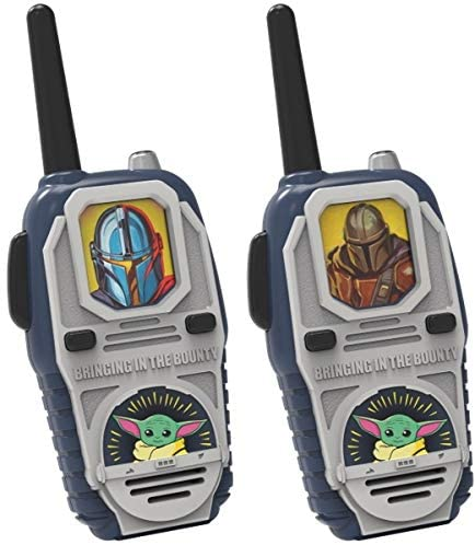 """Star Wars The Child Walkie Talkies """"AKA Baby Yoda"""" Kids Toys, Long Range, Two Way Static Free Handheld Radios, Built-in Lights and Sounds, Indoor, Outdoor Toddler Kid 3 and Up, The Mandalorian"""