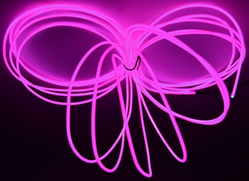 GlowCity 2.6mm 30FT Light Up El Wire Kits (Purple)