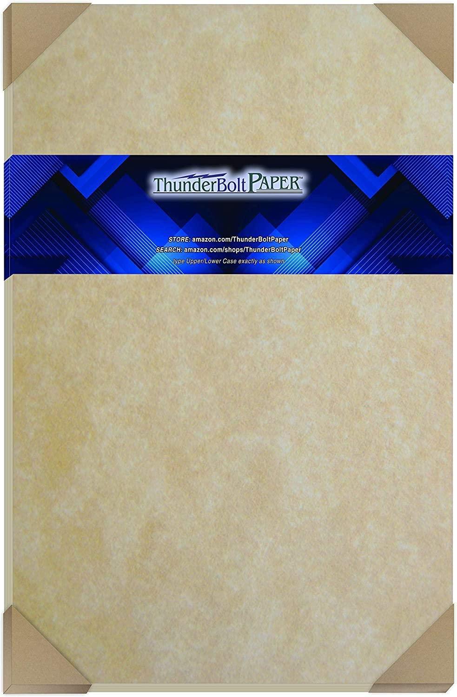 100 Old Age Parchment 60# Text (=24# Bond) Paper Sheets - 11