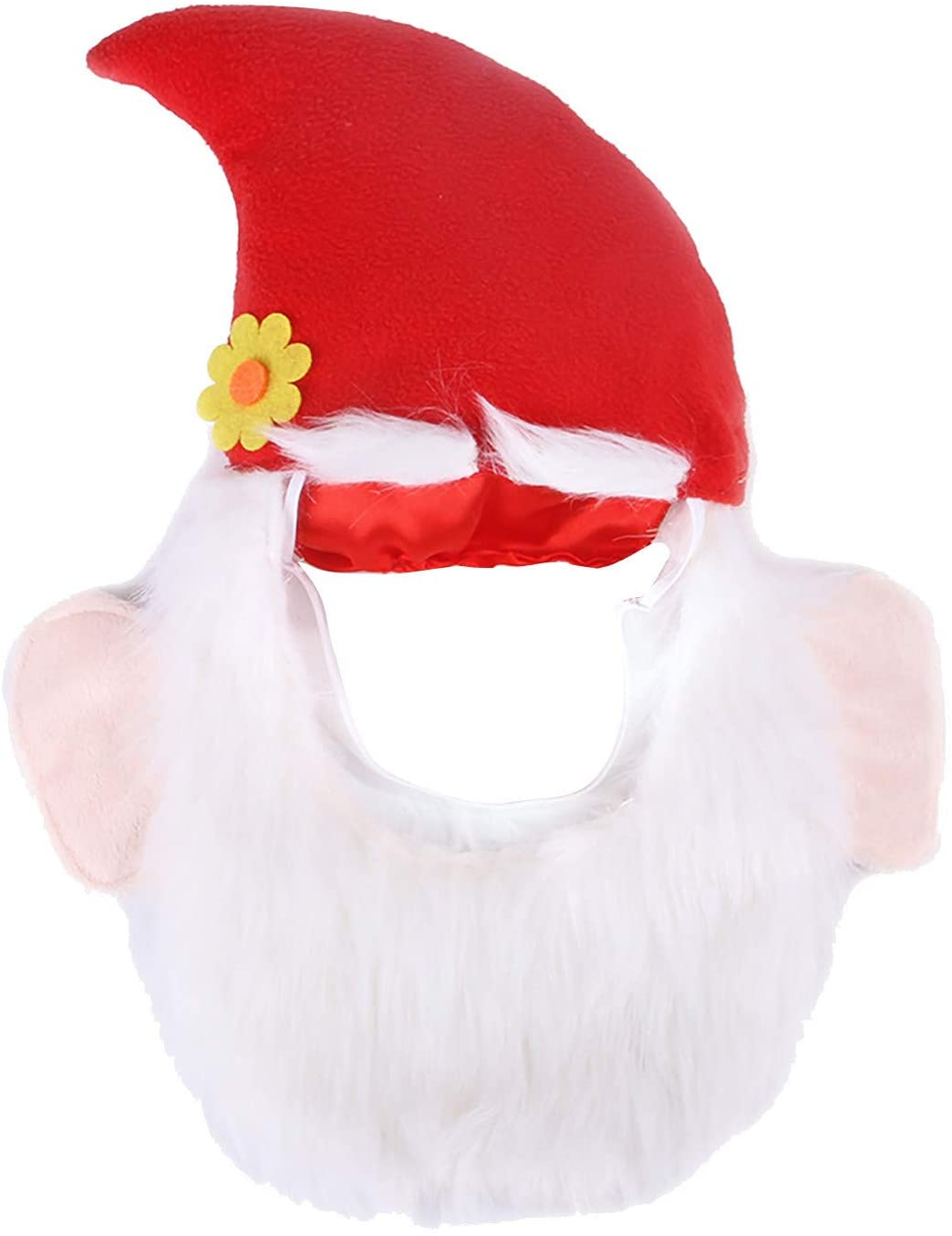 wihakdh 1 Piece Pet Dog Hat, Cute Santa Claus Beard Hat, Cat Scarf Dog Small Animal Hat, Fashion and Warm Hat Decoration for Pet Cat and Dog, Pet Costumes, Pet Christmas Cloth