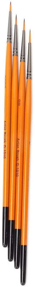 Nikou Paint Brush, 4PCS Art Painting Brushes Artist Watercolor Brush Pen Oil Painting Tools Set