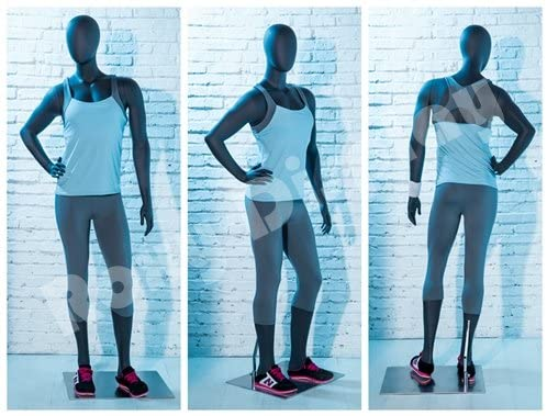 (MZ-HEF17EG) ROXYDISPLAY™ Eye Catching Female Mannequin with egghead, Athletic Style. Nice figure.Standing pose with one arm on waist.