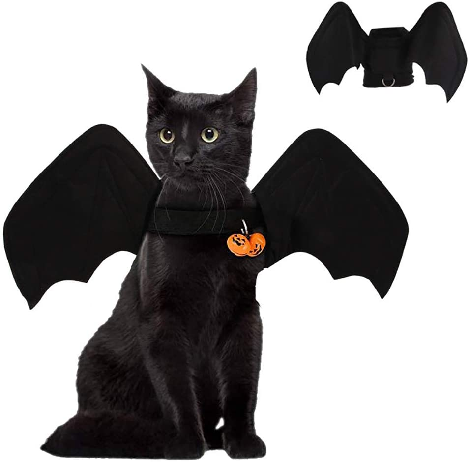 LAOZZI Costume for Cats, Pets Bat Wings, Bat Wings for Pet Dog Cat Costumes Halloween Christmas Cosplay Clothes