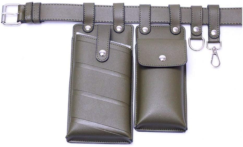 Wuliuen Women Waist Bag Fanny Pack Small Phone Pouch Sport Belt Hip Chest Crossbody Shoulder Purse Army Green