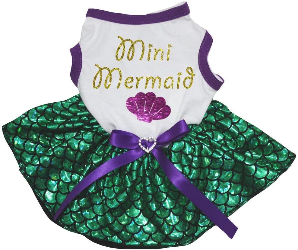 Petitebella Mini Mermaid Shell Puppy Dog Dress