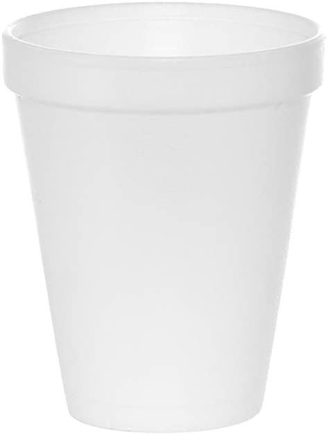 (100 Count) 12 oz White Foam Cups, Styrofoam Drinking Cups, Disposable Insulated Foam Cups for Hot/Cold Drinks