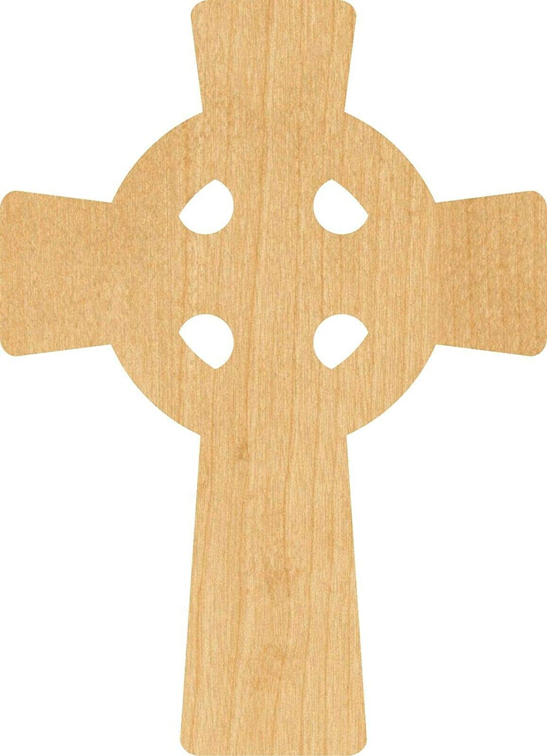 Celtic Cross Laser Cut Out Wood Shape Craft rasaca - Woodcraft (Thickness: 1/8 inch - Size: 6 inch)