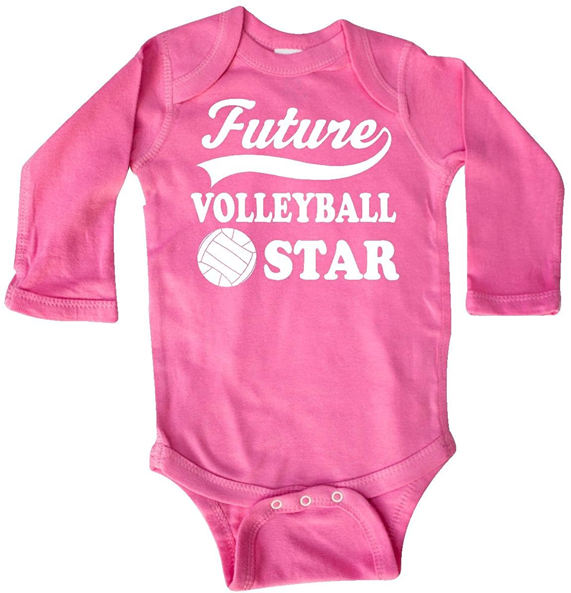inktastic Future Volleyball Star Childs Sports Long Sleeve Creeper
