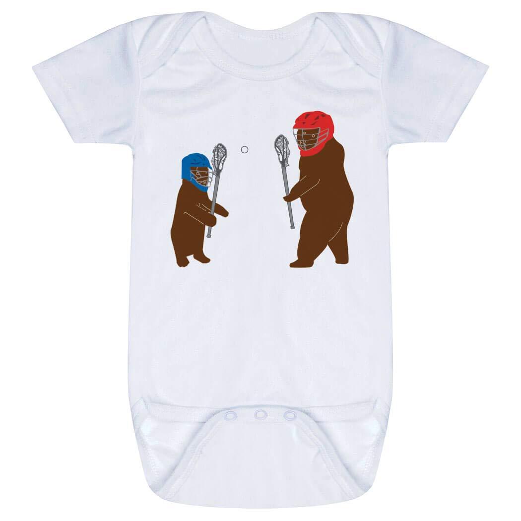 Guys Lacrosse Baby & Infant Onesie | Bears | One Piece Medium White