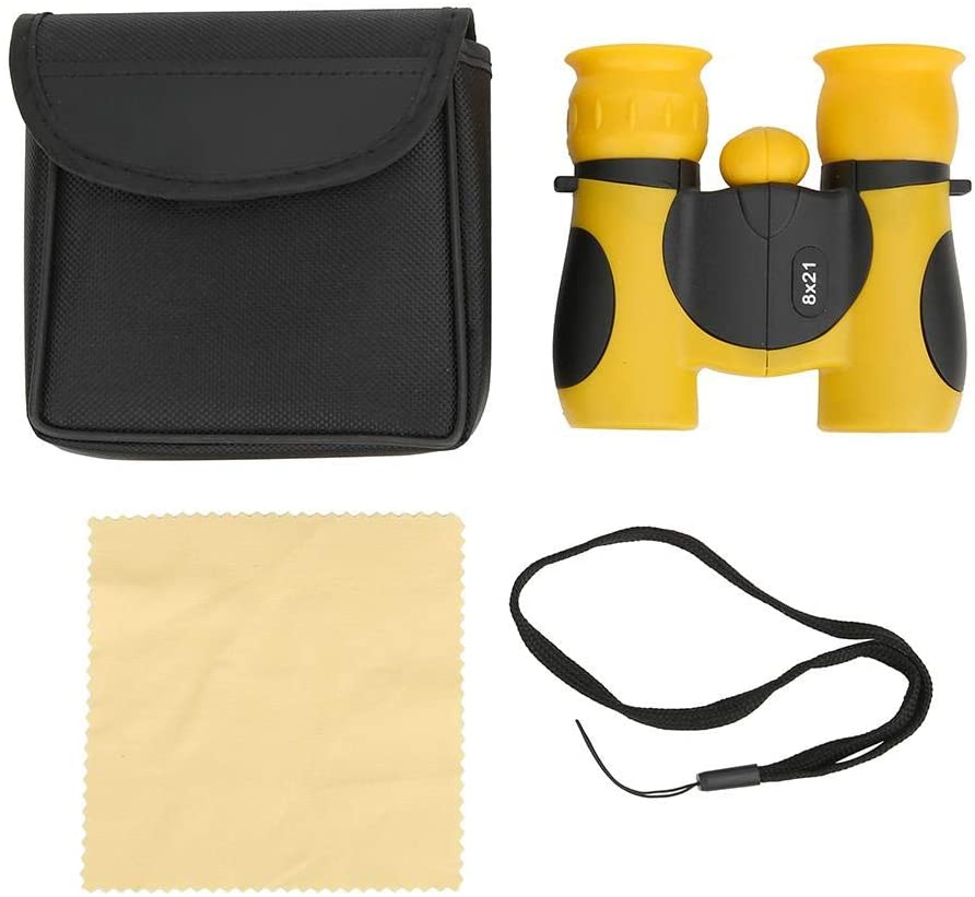 Diyeeni Children Binocular Telescope Set,Portable Mini Handheld Kid Binoculars for Enhance Concentration, Watch The Insects, See The Distant View,Toy Kid Gift(Yellow)