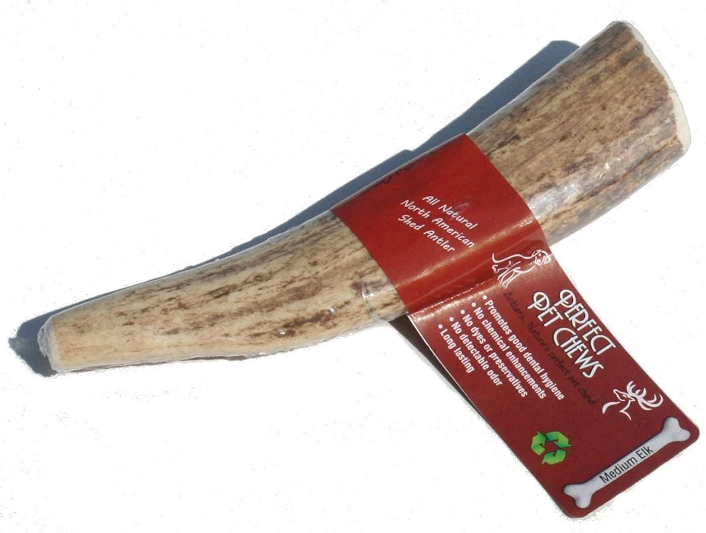 Perfect Pet Chews Elk Antler Dog Chew - Grade A, All Natural, Organic, and Long Lasting Treats - Made from Naturally Shed Antlers in The USA - Medium Treat