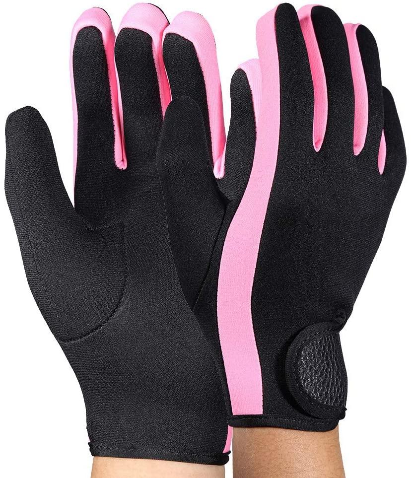 1Pair Diving Gloves Neoprene Anti Slip Flexible Wetsuits Five Finger Gloves for Snorkeling Swimming Surfing Sailing Kayaking Diving