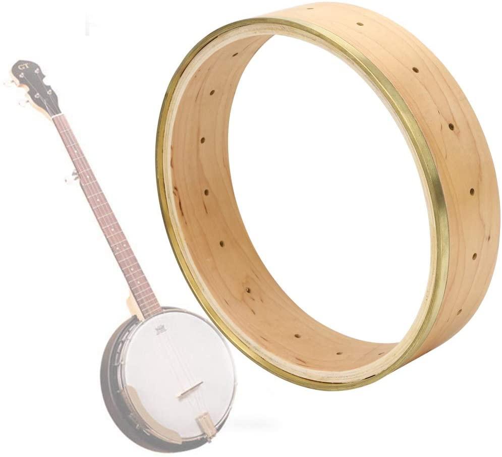 Banjo Rim Ring,11 Inch Maple Wood Banjo Rim for Banjo Parts