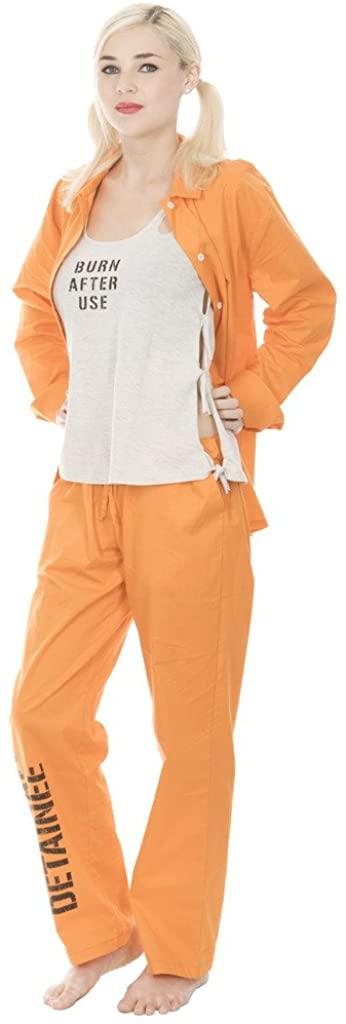 Suicide Squad Harley Quinn Bravo Detainee 3 Piece Womans Costume Set
