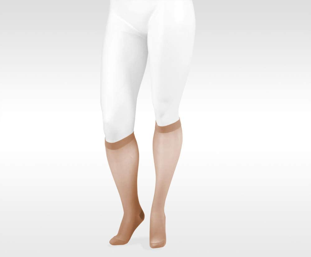 Naturally Sheer 2100ad 15-20mmhg Knee-High Closed Toe Compression Stockings