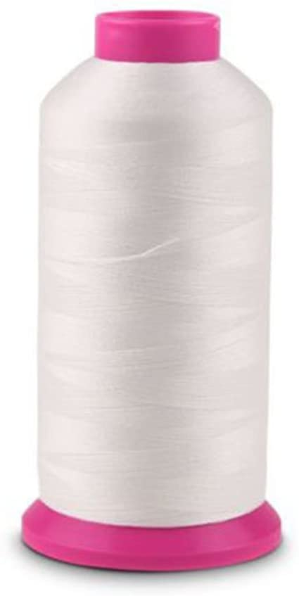PIXNOR 3000 Yards Sewing Machine Thread Spool Luminous Glow In The Dark (Floating White)