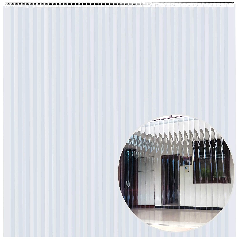 VEVOR 30PCS PVC Strip Curtain 120in (10 ft) Width x 120in (10 ft) Height, Vinyl Door Strips Strips 2mm Thickness, Plastic Door Curtain with 5cm Overlap, for Freezer Warehouse Doors