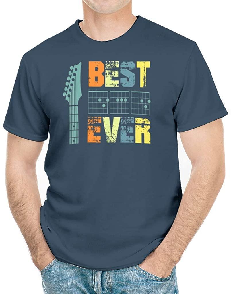 Best Guitar Dad Ever Shirt Funny Vintage Guitar Chords Cotton T-Shirt