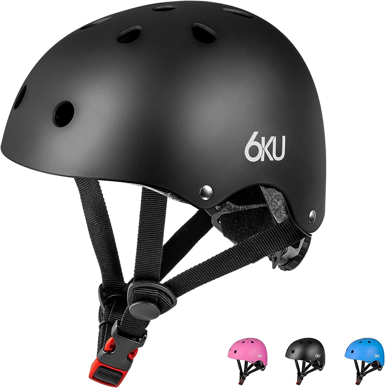 6KU Kids Bike Helmet CPSC Certified, Adjustable for Toddler Kids Ages 2 or Older Boys and Girls,Multi-Sport Safety Cycling Skating Scooter Helmets