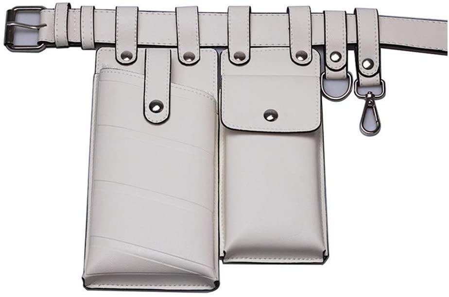 Wuliuen Women Waist Bag Fanny Pack Small Phone Pouch Sport Belt Hip Chest Crossbody Shoulder Purse White