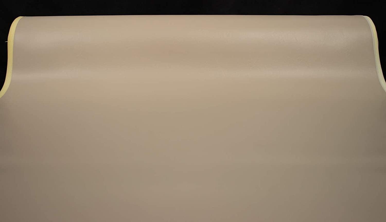 1/4 Foam Backed Marine Vinyl Upholstery Fabric Medium Tan 54 Wide by The Yard Boat Auto