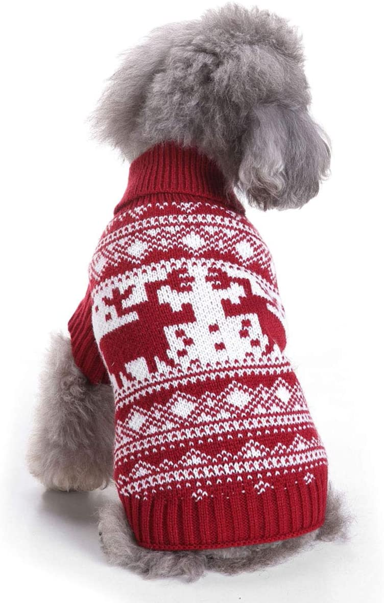 anypac Dogs Sweater Puppy Pets Clothes Cats Knitwear Turtleneck Halloween Christmas