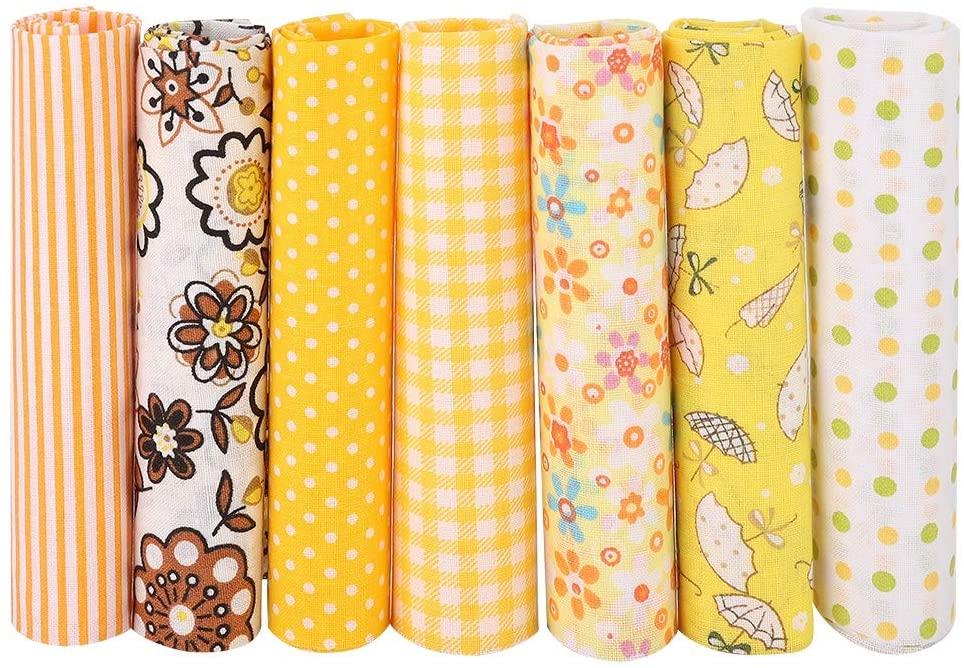 Eastbuy Cotton Cloth - 7pcs Cotton Batiks Sewing Craft Cloth for DIY Wallet Cushion Cover(5050cm)