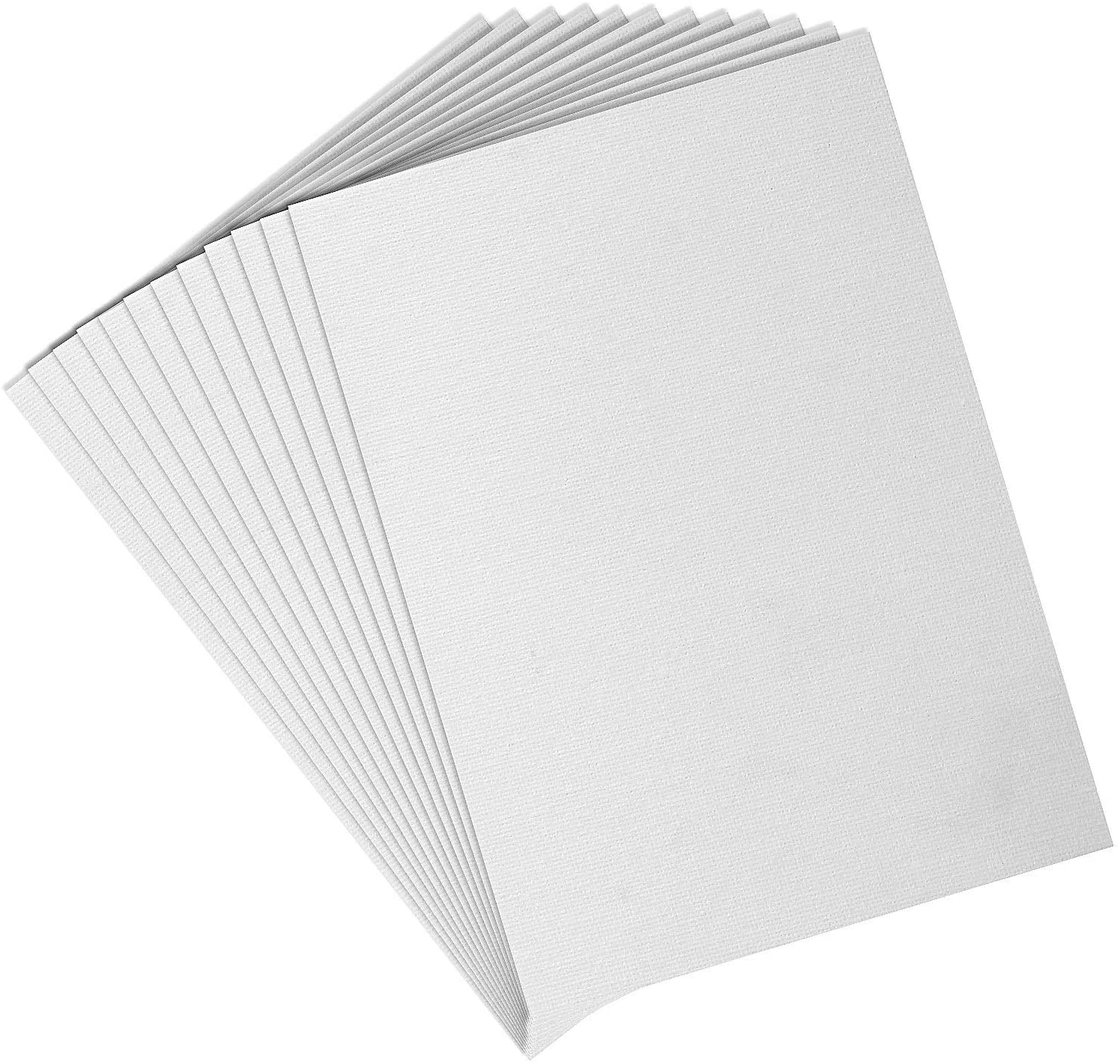 LANIAKEA 12 Pack Canvas Panels 8x10 Artist Canvas Boards White Blank Canvas Panels for Painting, Hobby Painters, Students & Kids