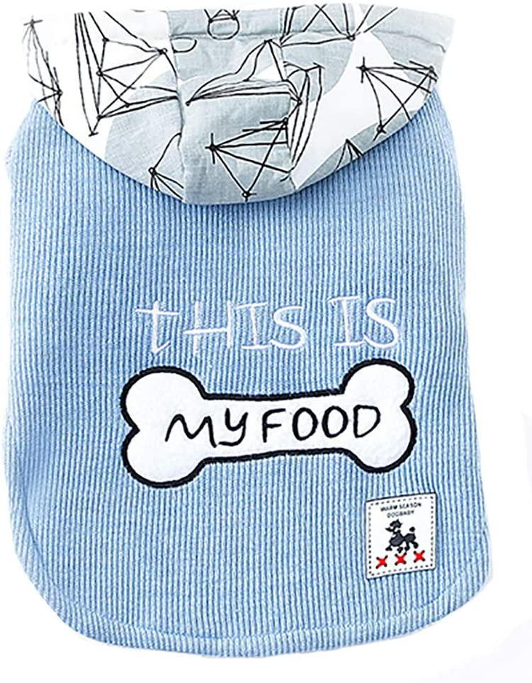 MaruPet Winter Pet Clothes for Dogs Coat Spring and Autumn Cute T-Shirt Two-Legs Sweater with HoodWinter for Teddy, Pug, Chihuahua, Shih Tzu, Yorkshire Terriers, Papillon
