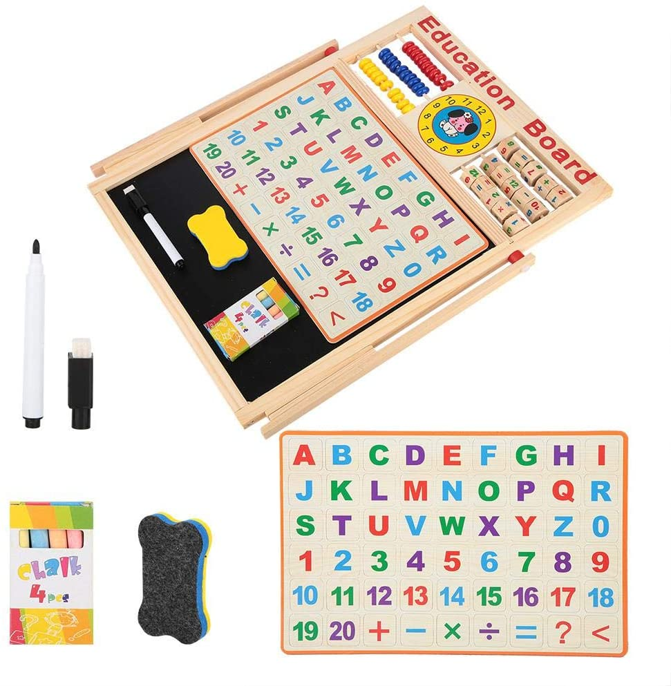 Jeffergarden Multifunction Children Drawing Board Standing Adjustable Kids Painting Writing Learning Board Birthday Gift Toy