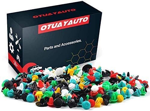 OTUAYAUTO 1000PCS Universal Car Clips - Plastic Car Fasteners, Bumper Clips, Door Panel Clip, Automotive Push Pin - Replacment for GM Ford Toyota Honda