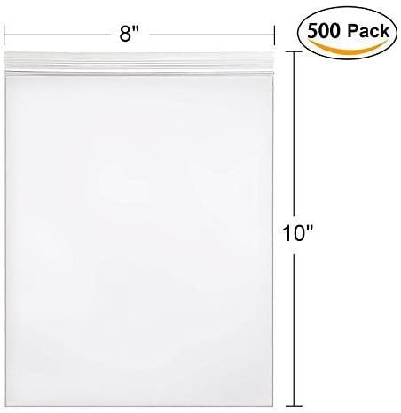 Hengu Clear Self Sealing Bag, 8x10