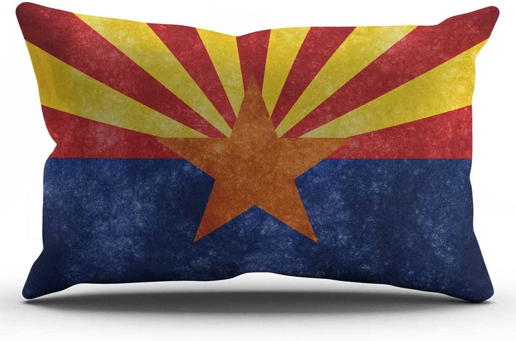 DECOPOW Retro Style US State Flag Pillow Cover, State Flag Throw Pillow Covers 12 X 20 Inches Arizona(12X20)