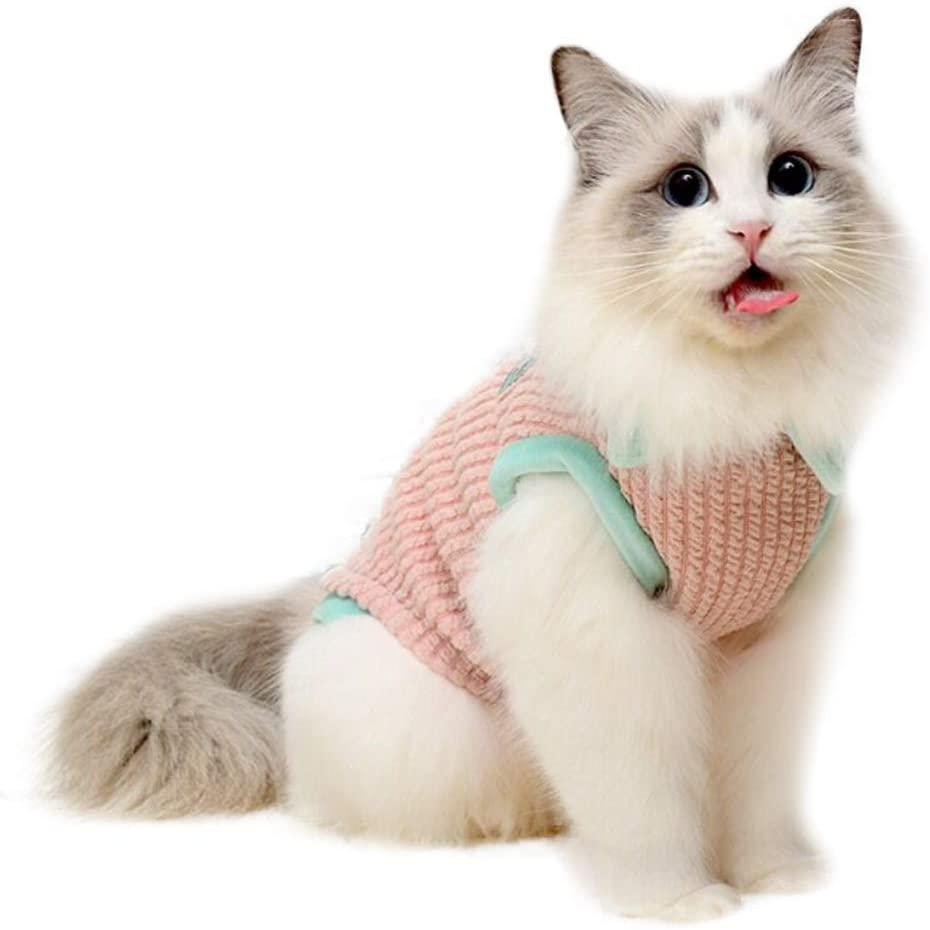 Bonaweite Hairless Cats T-Shirt Dress, Breathable Cat Wear Clothes Vest Shirts for Sphynx, Cornish Rex, Devon Rex, Peterbald