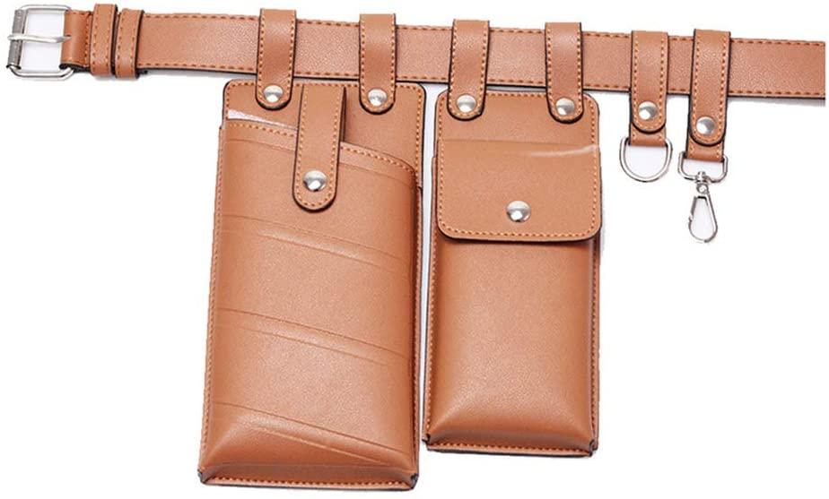Wuliuen Women Waist Bag Fanny Pack Small Phone Pouch Sport Belt Hip Chest Crossbody Shoulder Purse Brown