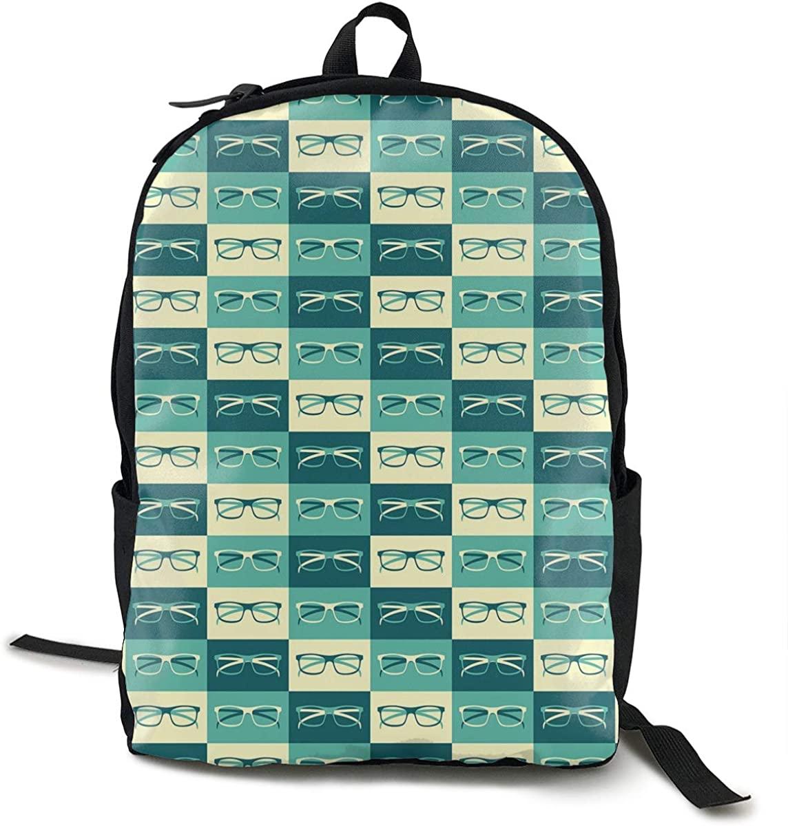 O-X_X-O Women Men Travel Business Laptops Backpack College School Notebook Bag