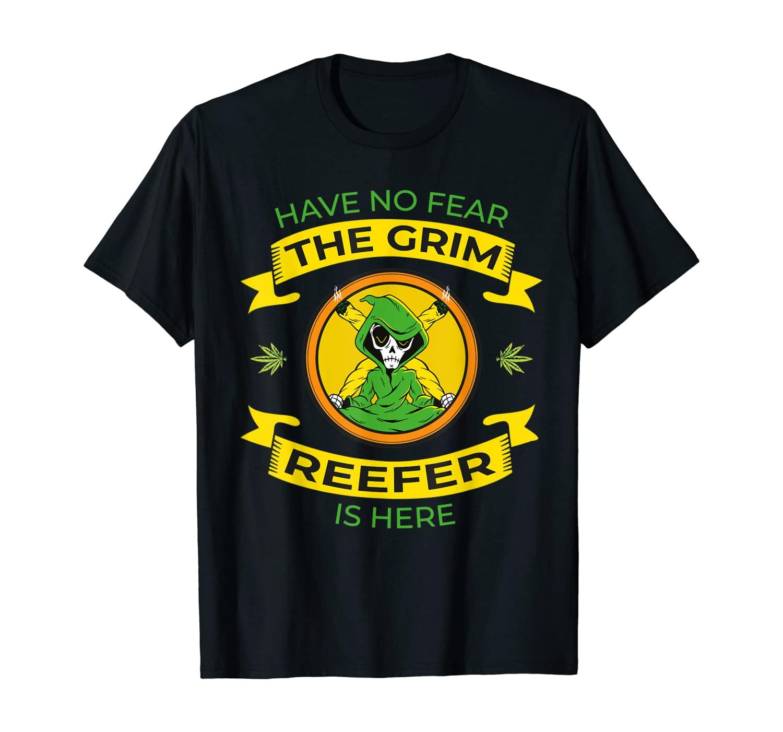 Grim Reaper Reefer Smoking Weed Cannabis Marijuana 420 T-Shirt