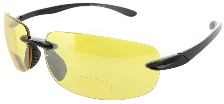 Fiore Island Sol Bifocal Sunglasses Rimless TR90 Sun Reading Glasses Bi Focal Readers For Men And Women   100% UV Protection