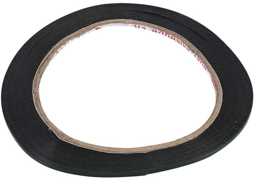 Nitrip Foam Adhesive Double Sided Black Tape 10M Length 2mm Width for Automotive Car Door Phone Machine