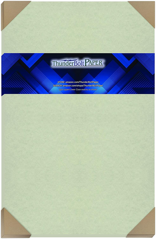 50 Light Green Parchment 60# Text (=24# Bond) Paper Sheets - 12