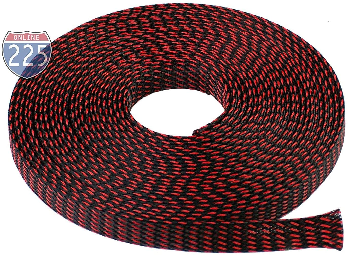 225FWY All Sizes & Colors 5 FT - 100 FT Expandable Cable Sleeving Braided Tubing LOT