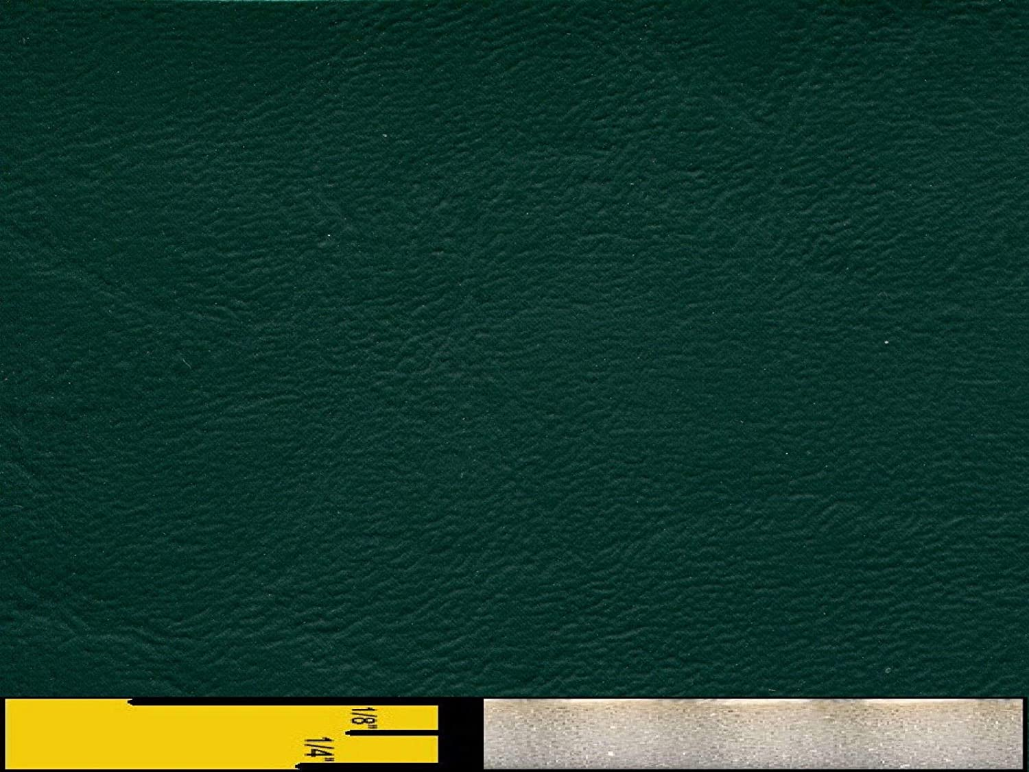 1/4 Foam Backed Marine Vinyl Upholstery Fabric Dark Green 54 Wide by 10 Yards Boat Auto