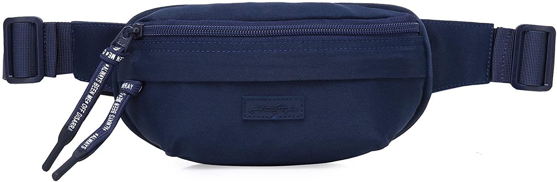 3323s Small Fanny Pack Mini Waist Bag Cute for Women Girls, Navy