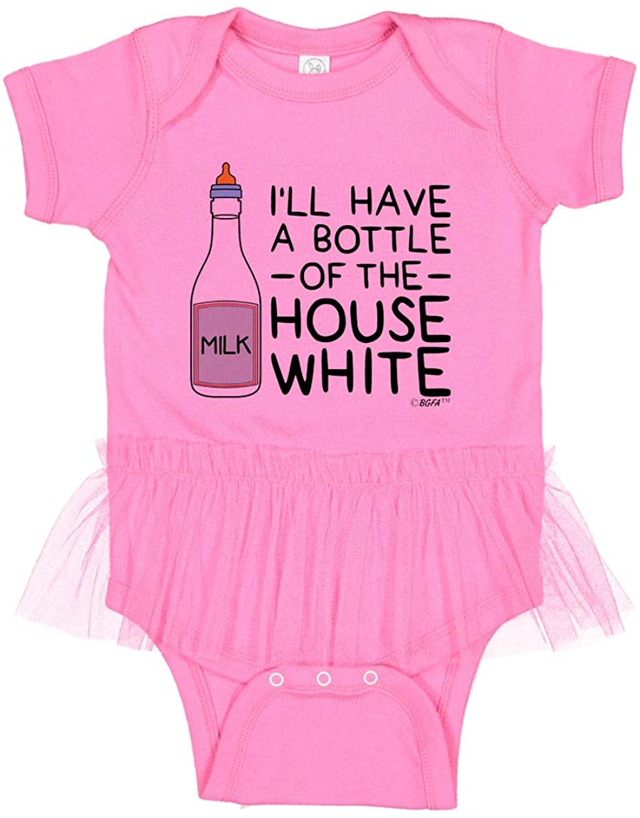 Baby Gifts For All I'll Have A Bottle of The House White Tutu Bodysuit